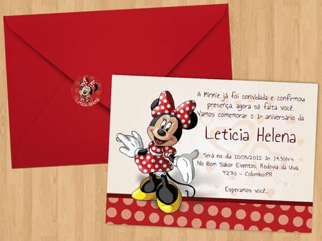 Convite aniversario red Lele