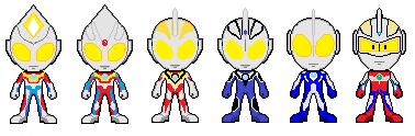 Ultraman Heisei Sprites by EpicDimension1031