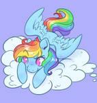 Rainbow Dash by Quakittyquak