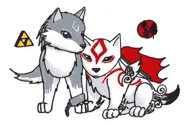 Link Wolf N Amaterasu by K177y on DeviantArt