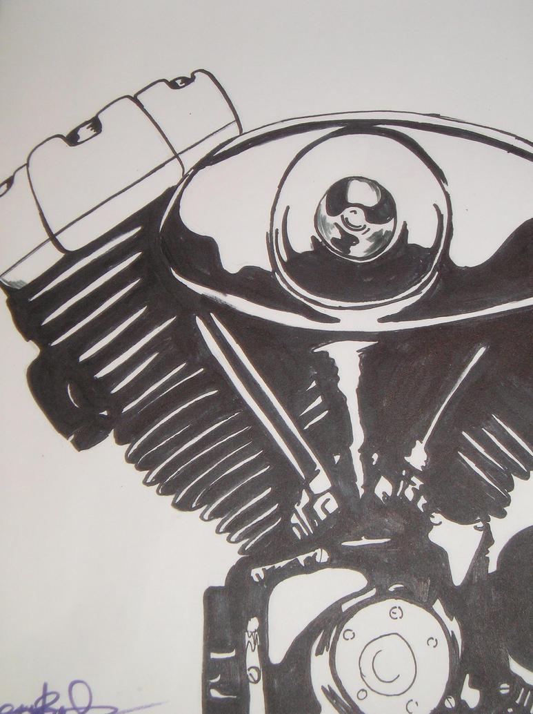 Motorcycle Engine by gr33nEyedGrl on DeviantArt