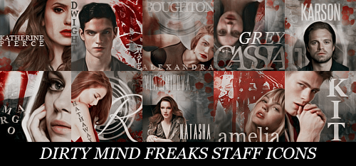Dirty Mind Freaks Staff Icons by kristiqnm