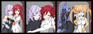Neptunia Living Suits - Uzume and Plutia by Vanron