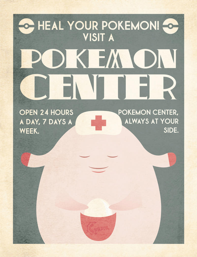 Pokemon Center Poster by Chuz0r