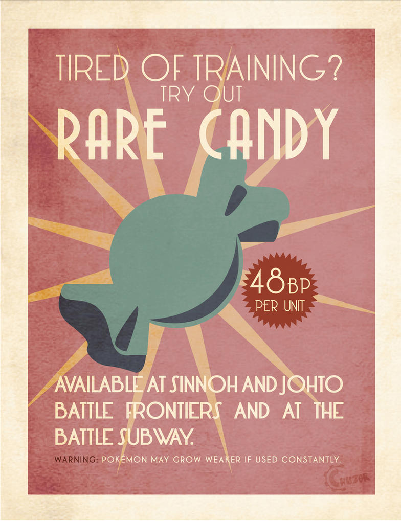 Rare candy advertising poster by Chuz0r