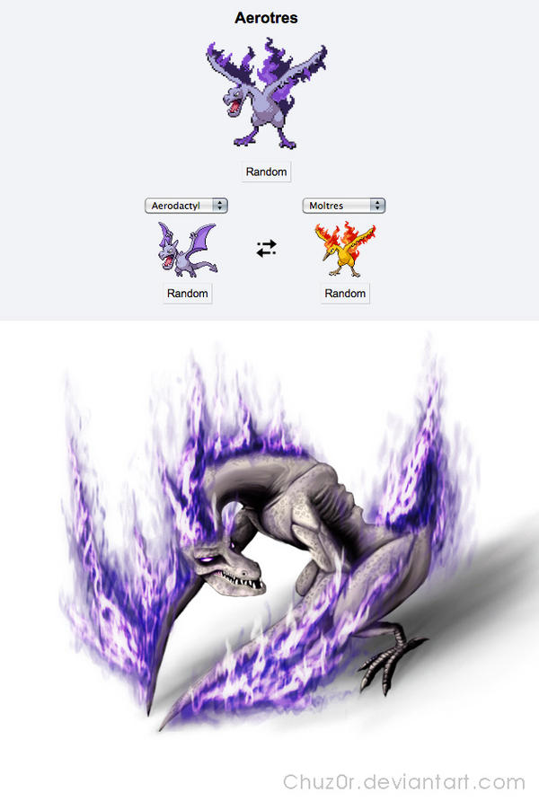 Aerotres pokefusion by Chuz0r