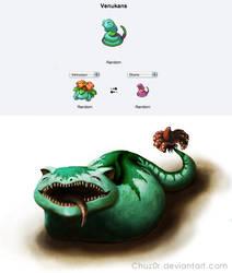 Pokemon Fusion: Venukans by Chuz0r