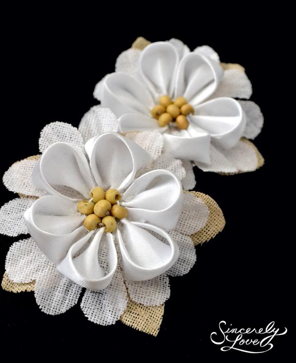 Vintage Cream Kanzashi by SincerelyLove