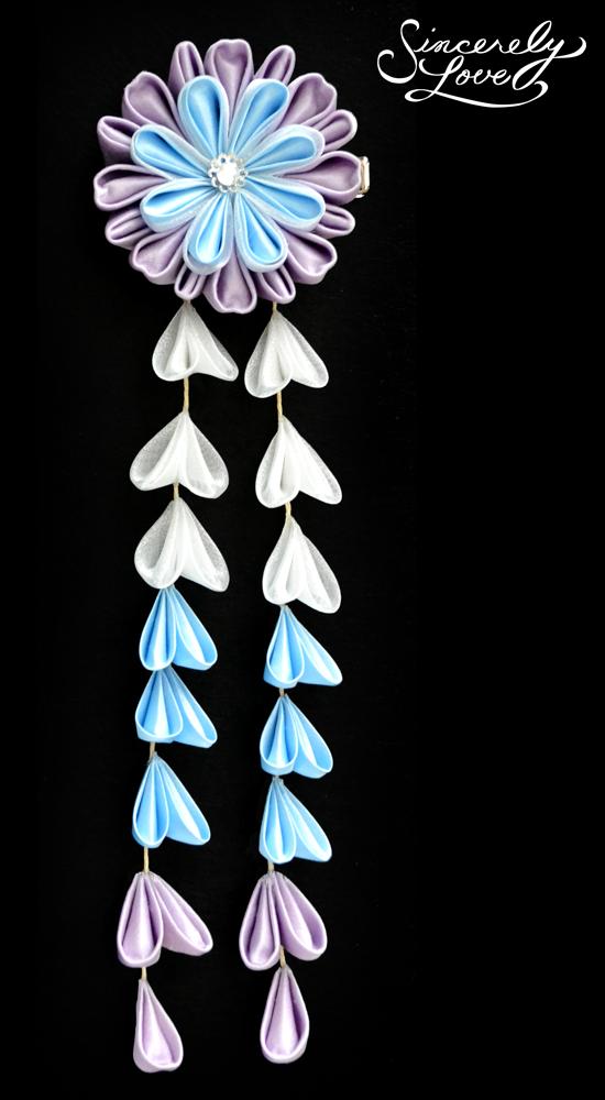 Lavender Ice Kanzashi by SincerelyLove