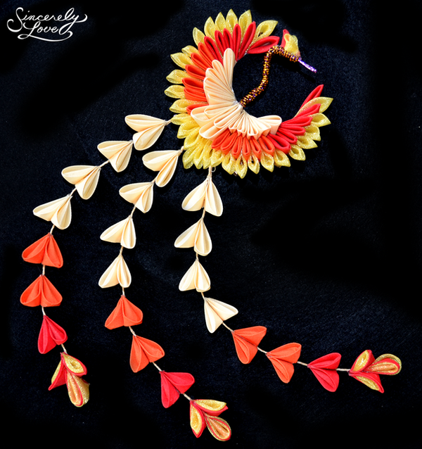 Phoenix Kanzashi by SincerelyLove