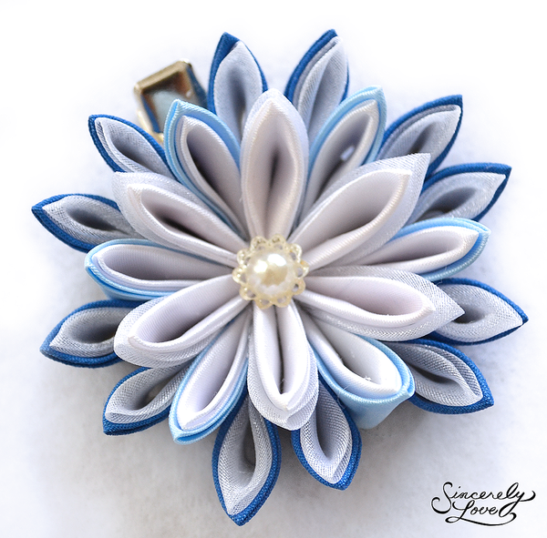 Ice Blossom Kanzashi by SincerelyLove
