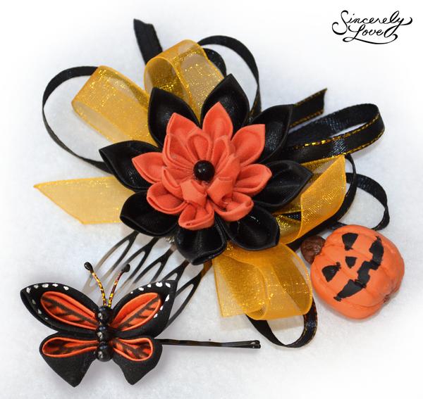 Commission: Halloween Spirit Kanzashi by SincerelyLove