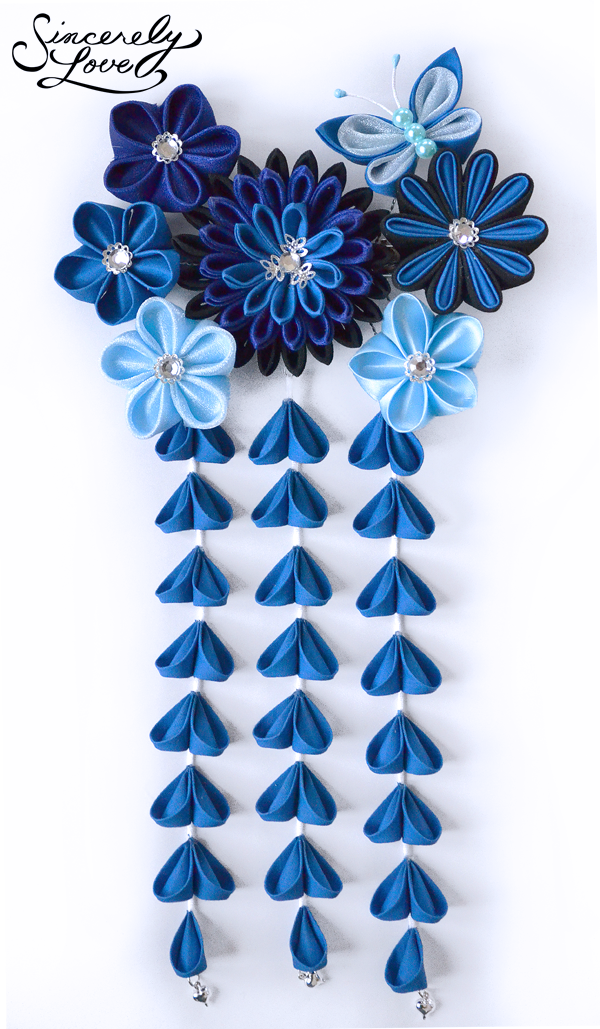 Commission: Starry Evening Kanzashi by SincerelyLove