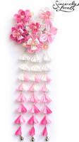 Carnation Pink Kanzashi