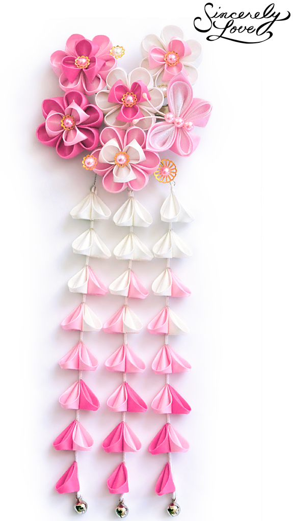 Carnation Pink Kanzashi by SincerelyLove
