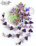 Purple Iris Dream Kanzashi