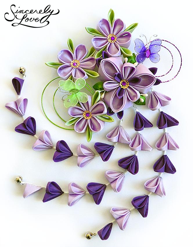 Purple Iris Dream Kanzashi by SincerelyLove