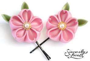 Pink Sakura Kanzashi
