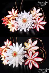 Commission: Bridal Momiji Kanzashi