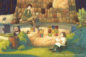 Hansel and Gretel illustration by FunderVogel