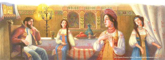 The Scarlet Flower illustr.