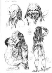 Female Yautja study by Dracowhip