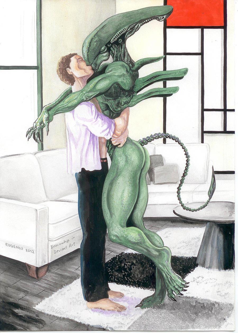 Arte amante sexy xeno
