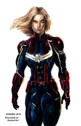 Captain Marvel by Dracowhip
