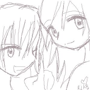 OC: Kaori and Joushiro by genki-genki