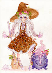 Peony witch design by CubeForest
