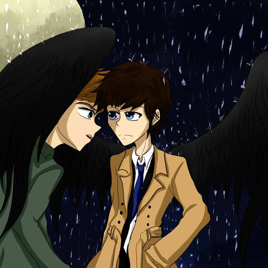 In the rain by chibi-nao15
