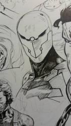 Gray Fox, cyborg ninja. by LordMishkin
