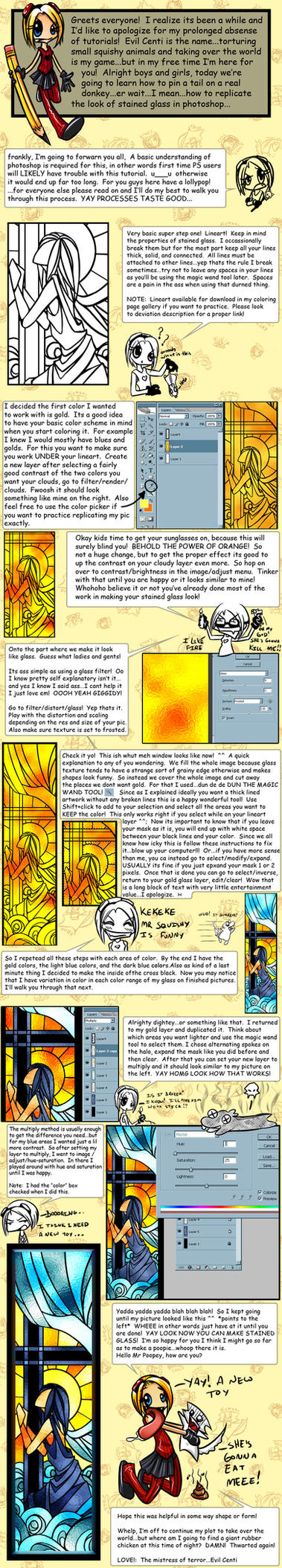 Digital Stained Glass Tutorial by BananAdopt