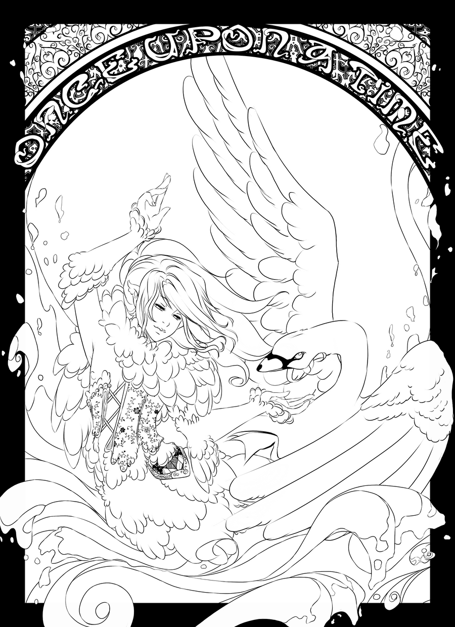 Swan princess coloring pages free - Sarky Sparky 1 589 229 The Swan Prince Color Page By Centi