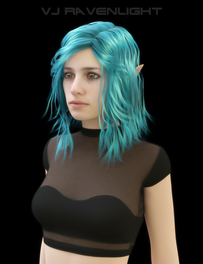 Custom Digital Portrait: Tam! by VJRavenlight