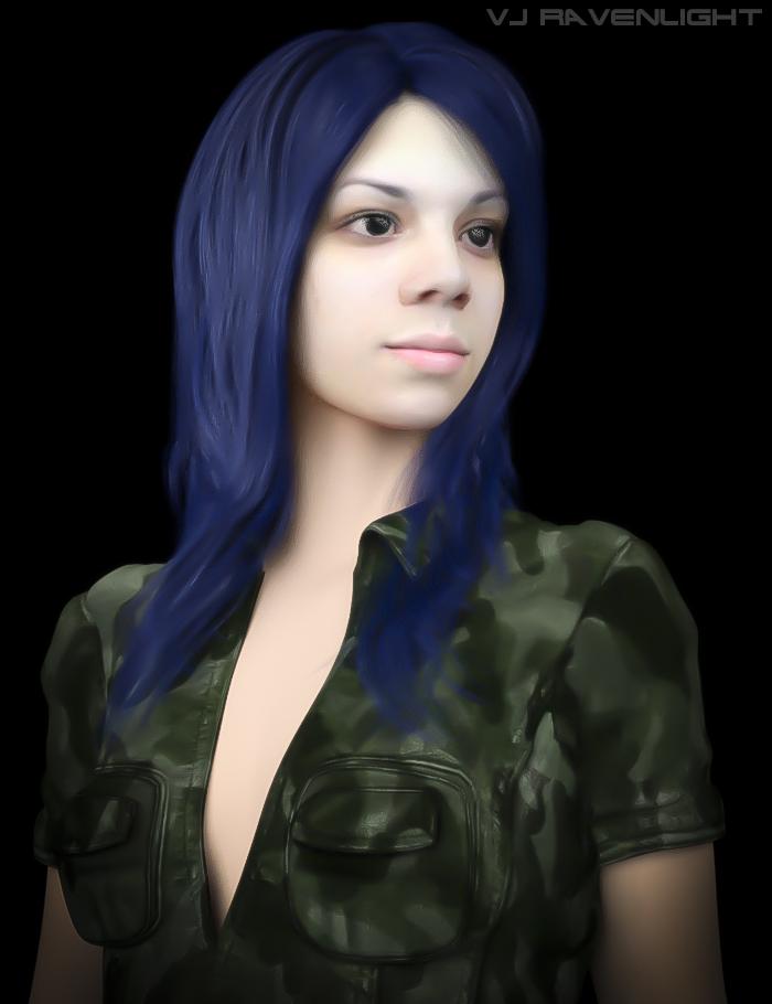 Custom Digital Portrait: Aleera! by VJRavenlight