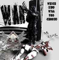 WAR....Which Side by mestophales