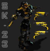 Sentinel - Sidearm SK-23 by mestophales