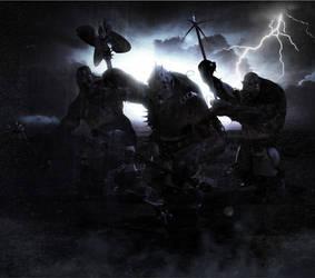 Thunder Trolls by mestophales