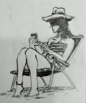 Beach sketch 22