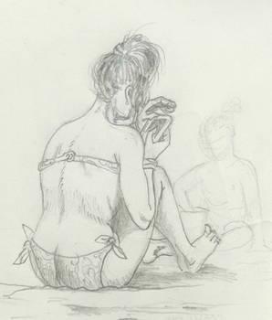 Beach sketch 13