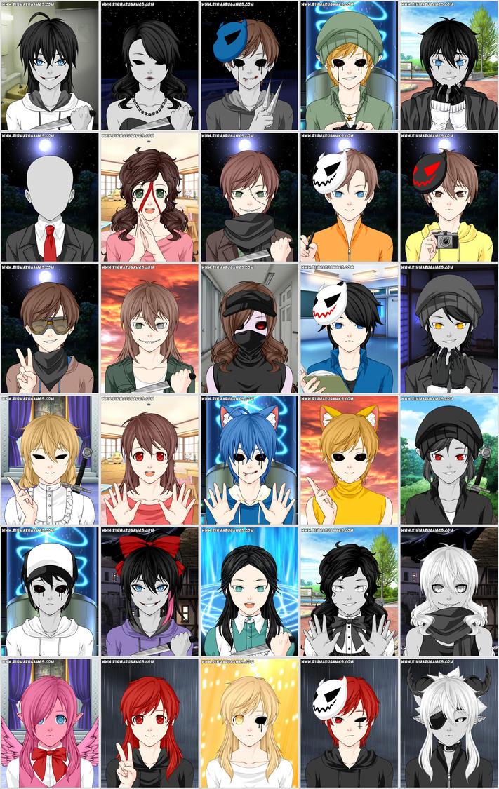 1 Anime Character : Creepypasta characters by sarashinakayano on deviantart