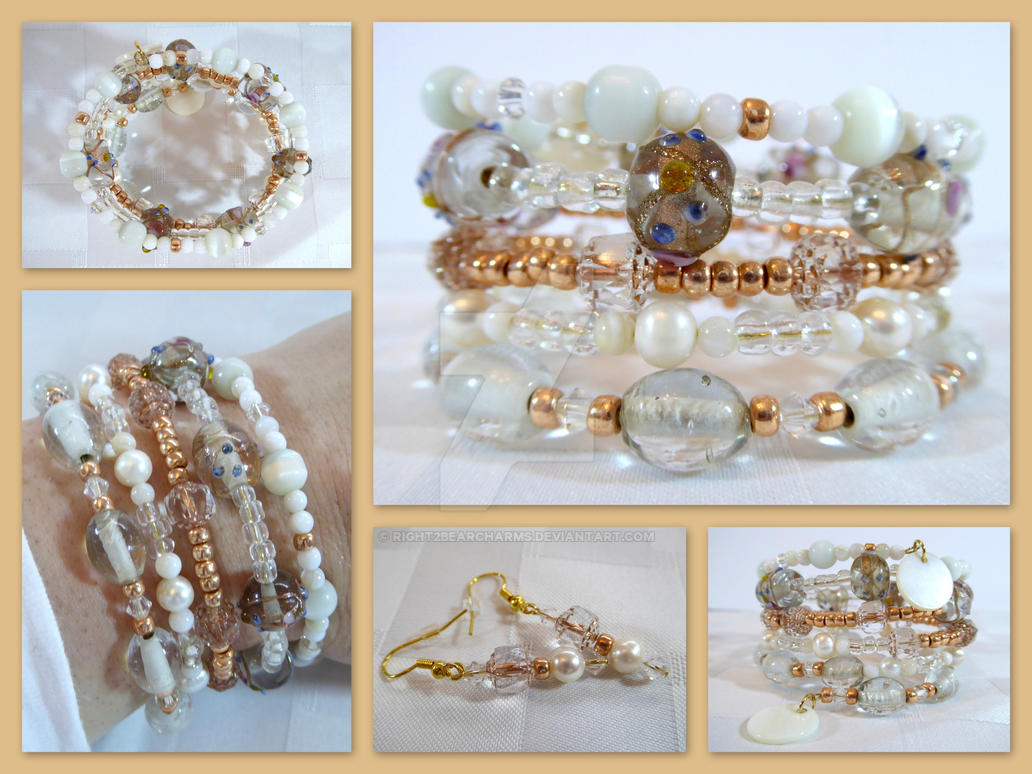 Boho Bridal Jewelry Set by right2bearcharms on DeviantArt