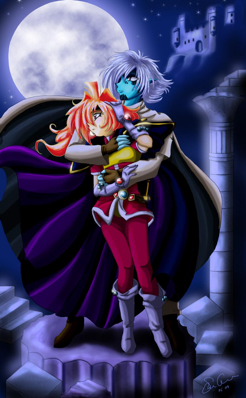 Lina and Zelgadis by HitokiriSakura2012