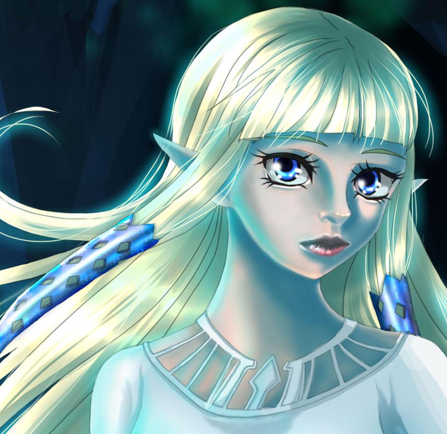 Zelda close up by HitokiriSakura2012