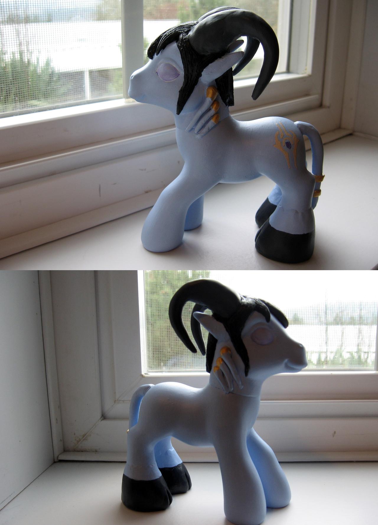 Saomi's First Pony: Draenei by MLPwny-girl