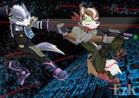 Fox y Wolf II by LeoZeke