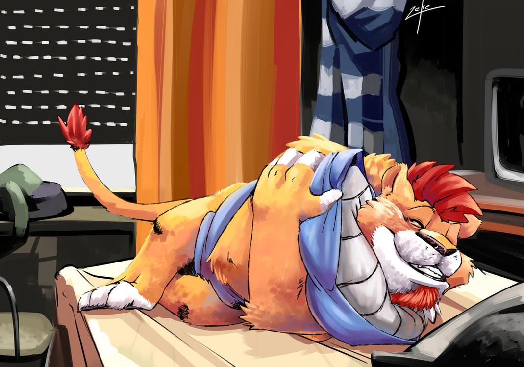 Cuddly lion by t-bone-0