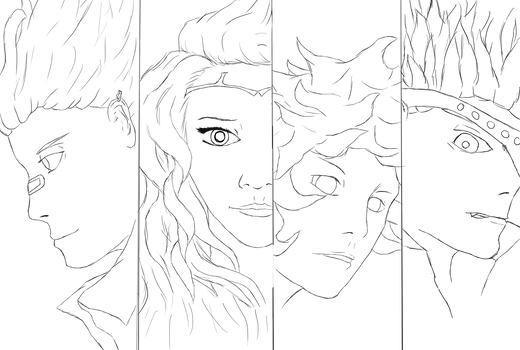 Character Face Lineart