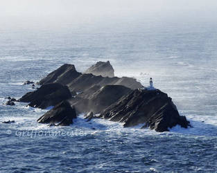 Muckle Flugga Light by griffonmeister